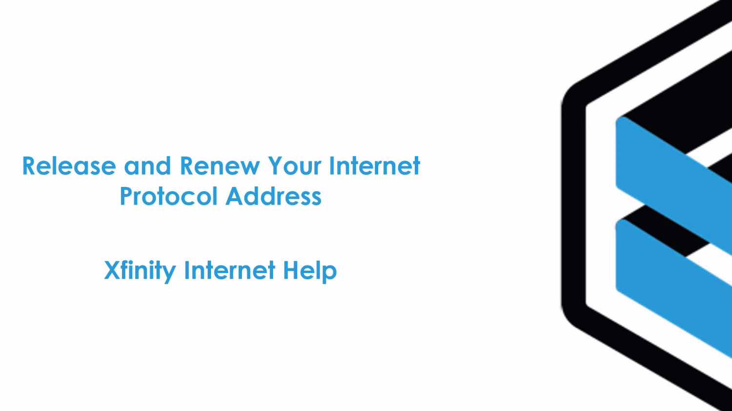 Release and Renew Your Internet Protocol Address